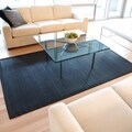 Midnight Black Bamboo Rug with Black Border (6' x 9')