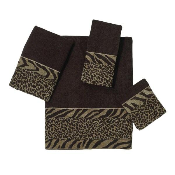 Avanti Cheshire Brown Embellished 4-piece Towel Set