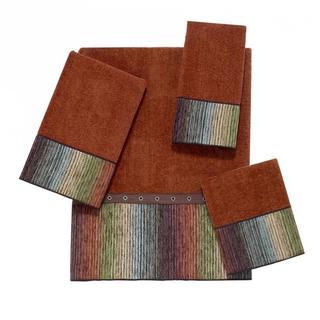 Avanti Cheyenne Brown Embellished 4-piece Towel Set
