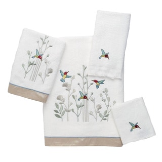 Avanti Colibri White Embellished 4-piece Towel Set