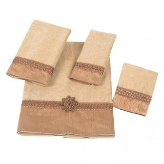 Avanti Braided Cuff Orange Embellished 4-piece Towel Set