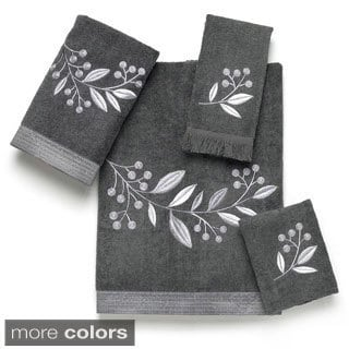 Avanti Madison Black Embellished 4-piece Towel Set