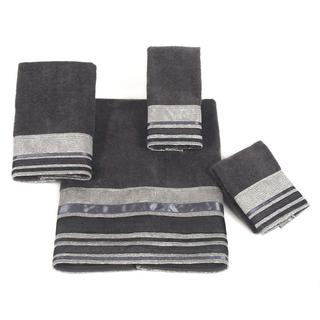 Avanti Geneva Grey Embellished 4-piece Towel Set