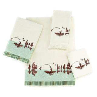 Avanti Gone Fishing White Embellished 4-piece Towel Set