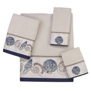 Avanti Hampton Shells Off-White Embellished 4-piece Towel Set