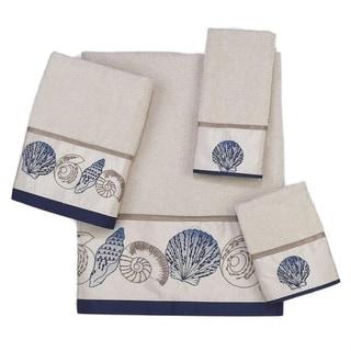 Avanti Hampton Shells Off-White Embellished 4-piece Towel Set