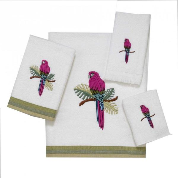 Avanti Parrot White Embellished Towel Set