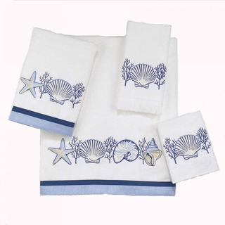 Avanti Nassau White Embellished 4-piece Towel Set