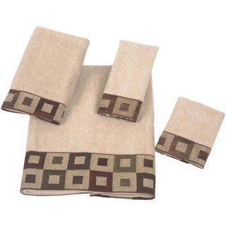 Avanti Precision Brown Embellished 4-piece Towel Set
