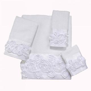 Avanti Rosie White Embellished 4-piece Towel Set