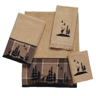 Avanti Woodlands Tan Embellished 4-piece Towel Set