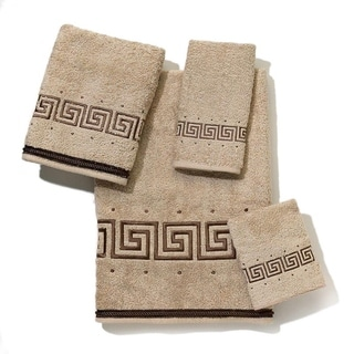 Avanti Premier Athena Tan Embroidered 4-piece Towel Set