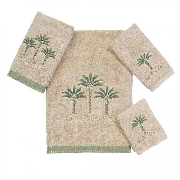 Avanti Premier Palm Beach Embroidered 4-piece Towel Set