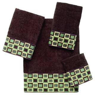 Avanti Blocks Brown Embellished 4-piece Towel Set