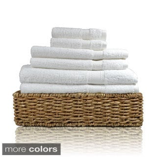 Cotton Two-ply Solid Color 6-piece Towel Set
