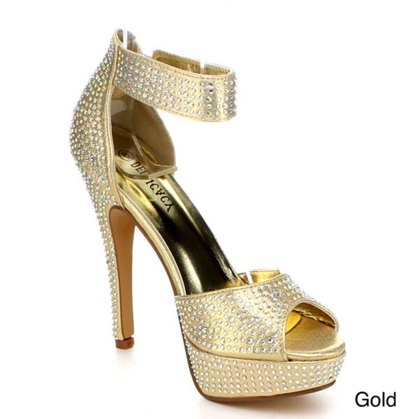 DELICACY IVETTA-21 Women's Ankle Strap Platform Sandals