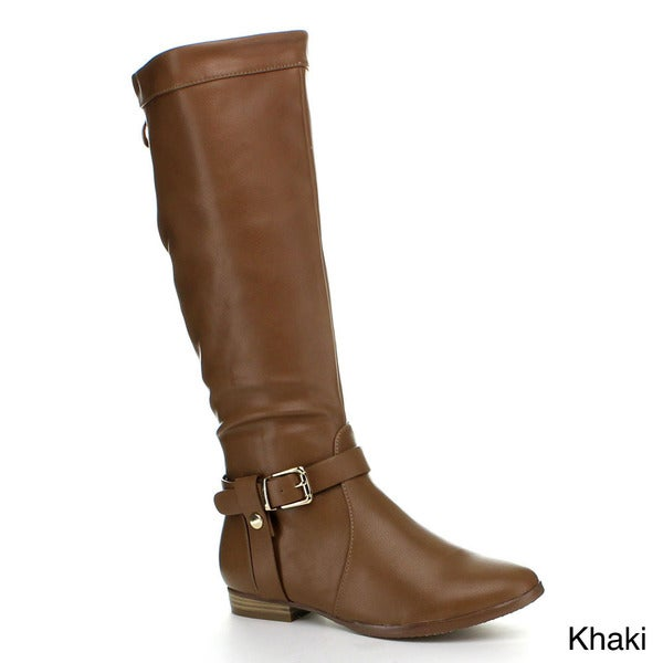 VIA PINKY DARLA-22 Women's buckle Knee High Riding Boots