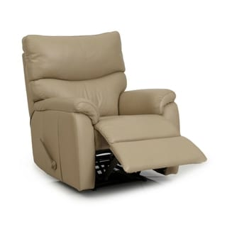 Bourne II Taupe Leather Split Layflat Recliner