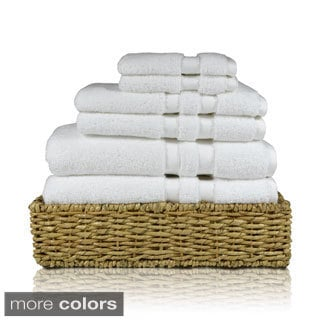 100-percent Cotton Solid Color 6-piece Towel Set