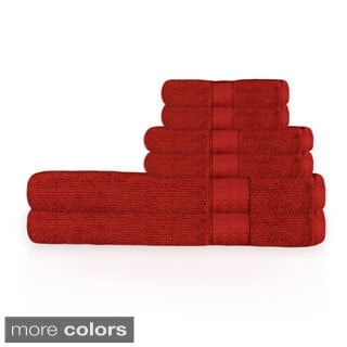 Corduroy Cotton Solid Color 6-piece Towel Set