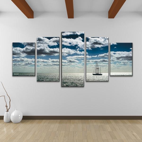 bruce bain 39 ship 39 5 piece set canvas wall art 16322491. Black Bedroom Furniture Sets. Home Design Ideas