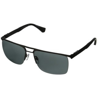 Emporio Armani Men's 'EA2014' Matte Black Metal Sunglasses