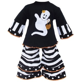 AnnLoren Halloween Striped Ghost Shirt Doll Outfit
