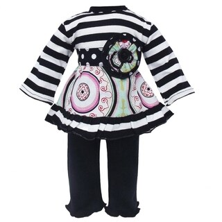 AnnLoren Medallion and Stripes Doll Outfit