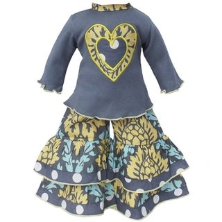 AnnLoren Lotus Damask Heart Doll Outfit