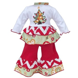 AnnLoren Floral Christmas Tree Doll Outfit