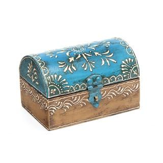 Sitara Hand-painted Mango Wood Box and Hardware (India)