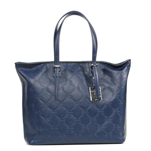 Longchamp LM Cuir Medium Navy Tote Bag