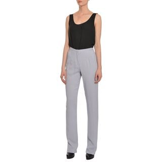 Emanuel Ungaro Women's Tapered Crepe Trousers Pants