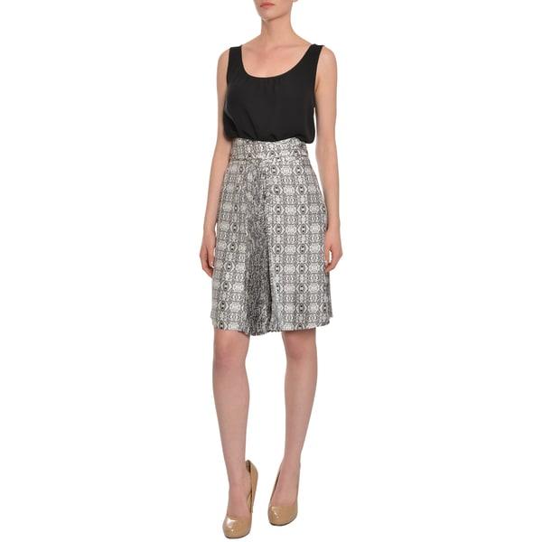 Emanuel Ungaro Women's Geo Print Silk Skirt