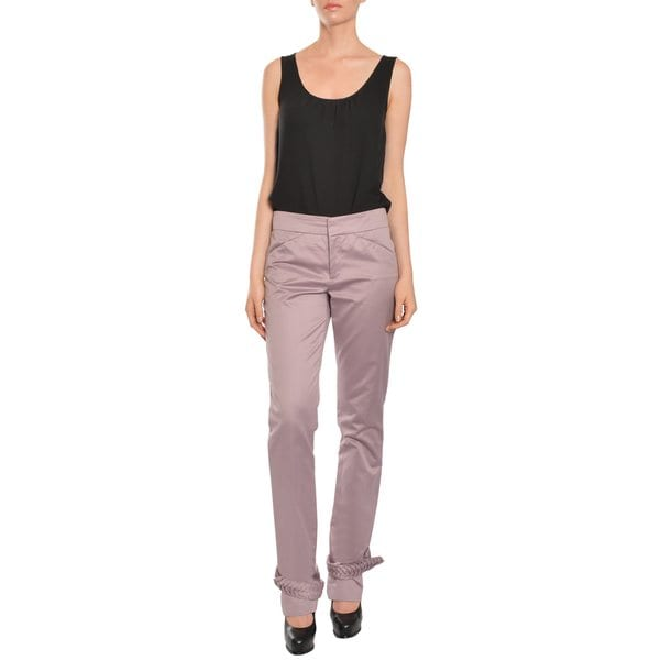 Emanuel Ungaro Women's Tapered Leg Trousers Pants