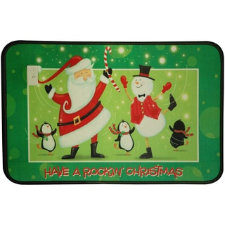 Music Sounds Swing Santa Mat (1'5 x 2'2)