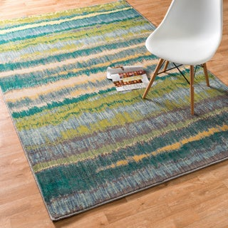 Laurent Teal/ Multi Rug (3'9 x 5'2)