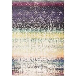 Laurent Purple/ Multi Rug (3'9 x 5'2)