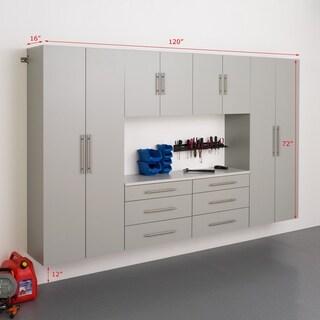 6-piece Stone Grey Storage Cabinet Set I