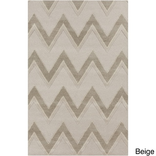Hand-tufted Gregory Chevron Wool Area Rug (8' x 10')