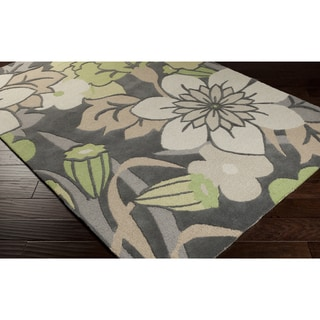 Hand-tufted Gregory Floral Wool Area Rug (8' x 10')