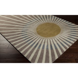 Hand-tufted Gregory Sun Rays Wool Area Rug (8' x 10')