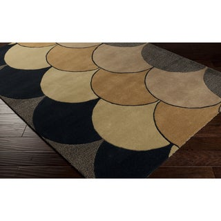 Hand-tufted Gregory Curves Wool Area Rug (8' x 10')