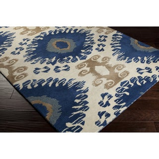 Hand-tufted Gregory Abstract Wool Area Rug (8' x 10')