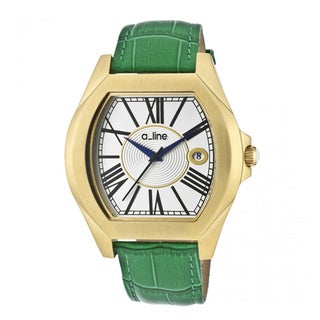 A Line Women's Adore Green Strap Watch AL-80008-YG-02-GN