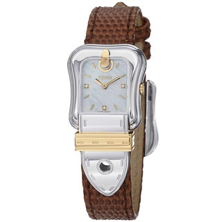Fendi Women's F382124521D1 'B. Fendi' Mother of Pearl Diamond Dial Two Tone Watch