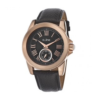 A Line Women's Amare Black Leather Watch AL-80022-RG-01