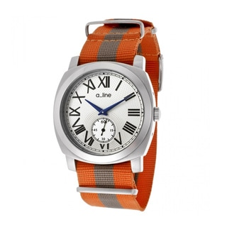 A Line Women's Pyar Orange and Grey Nylon Watch AL-80023-02-OR-NS1