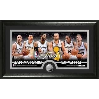 San Antonio Spurs 2014 NBA Finals Minted Coin Panoramic Photo