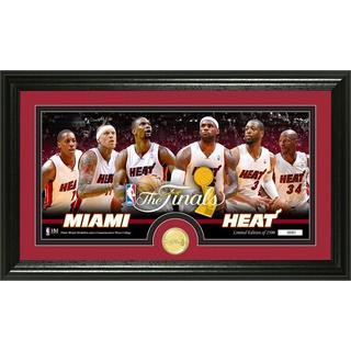 Miami Heat 2014 NBA Finals Minted Bronze Coin Panoramic Photo